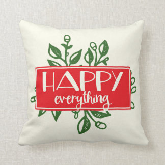 Happy Everything | Holiday Throw Pillow