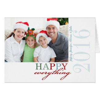 HAPPY Everything Photo Folded Holiday Card