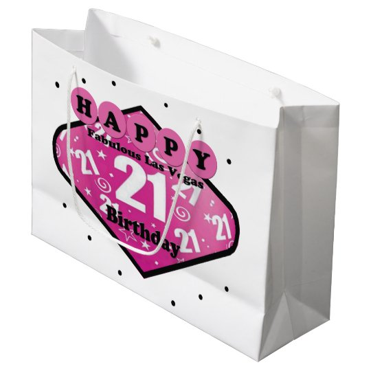HAPPY FABULOUS 21ST BIRTHDAY LAS VEGAS GIFT BAG