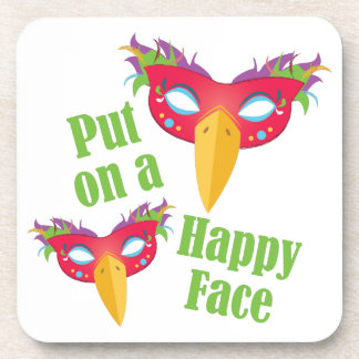 Happy Face Beverage Coaster