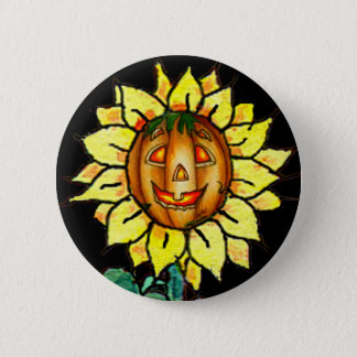 HAPPY FACE by SHARON SHARPE 2 Inch Round Button