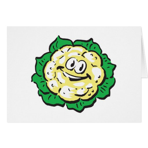 happy face cauliflower greeting cards
