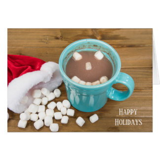 Happy Face Christmas Hot Chocolate Card
