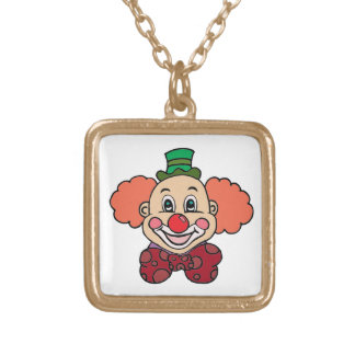 Happy Face Clown Gold Plated Necklace