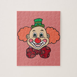 Happy Face Clown Jigsaw Puzzle