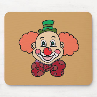 Happy Face Clown Mouse Pad