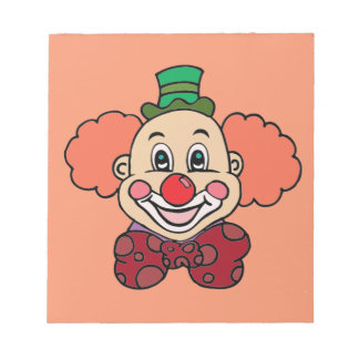 Happy Face Clown Notepad