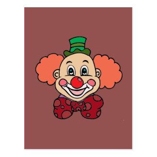 Happy Face Clown Postcard
