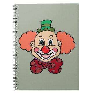 Happy Face Clown Spiral Notebook