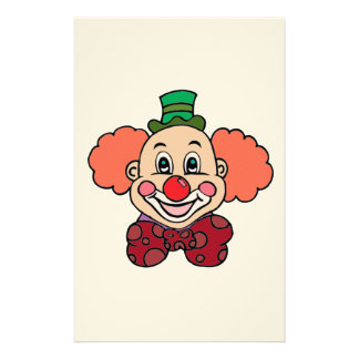 Happy Face Clown Stationery