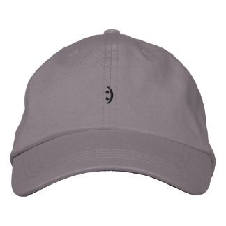 happy face embroidered hat