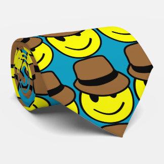Happy Face Fedora Tie