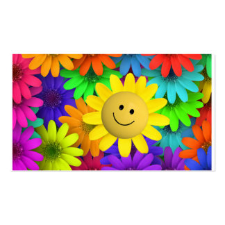 Happy face Flower Business Cards