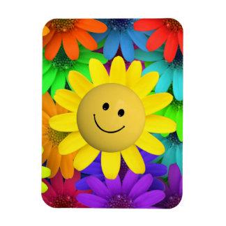 Happy face Flower Magnet