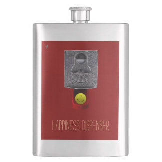 Happy Face Gumball Flask