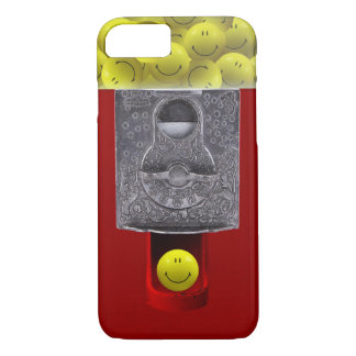 happy face gumball machine iPhone case