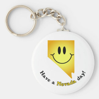 Happy Face - Have a Nevada Day! Keychain