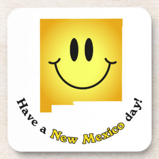 Happy Face - Have a New Mexico Day! Coasters