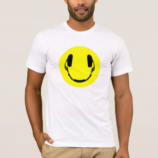 Happy Face Headphones T-Shirt