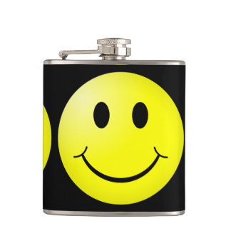 Happy Face Hip Flask