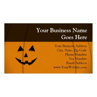 Happy Face Jack-O-Lantern Business Card Template