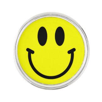 Happy Face Lapel Pins
