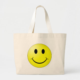 Happy Face Large Tote Bag