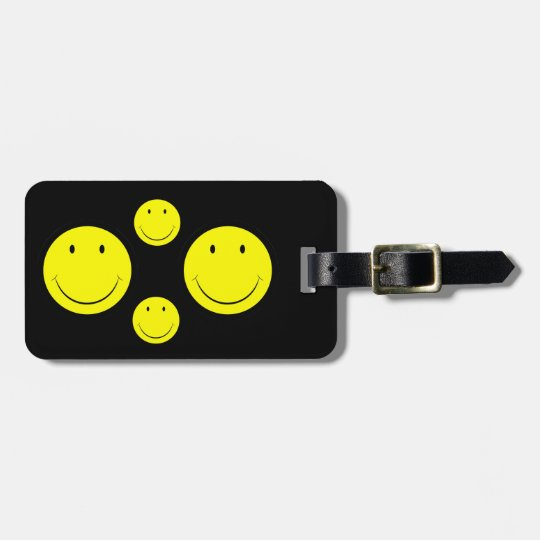 Happy Face Luggage Tag