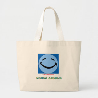 Happy Face Medical Assistant Large Tote Bag