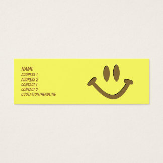 Happy Face Mini Business Card