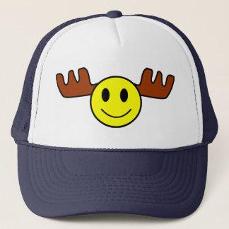 Happy Face Moose Cap