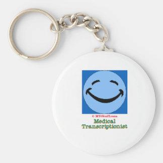 Happy Face MT Basic Round Button Keychain
