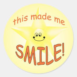 Happy Face Star Teacher Smile Award Stickers