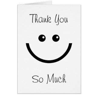 Happy Face Thank You Card