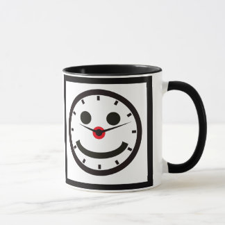Happy Face Time - Clocked Mug