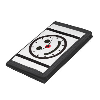 Happy Face Time - Clocked Trifold Wallet