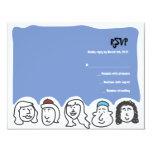 HAPPY FACES Bar Bat Mitzvah Invitation Reply Card
