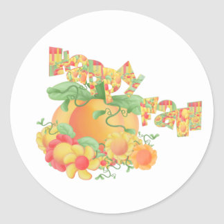 Happy Fall Classic Round Sticker
