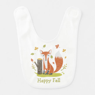 Happy Fall Fox Bib