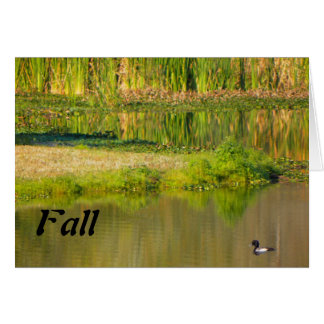 Happy Fall, Pond with Duck Card