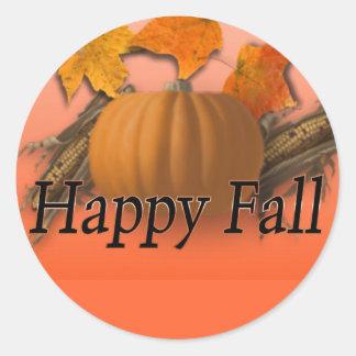 Happy Fall Round Sticker
