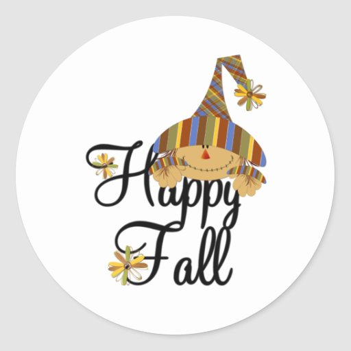 Happy Fall Scarecrow Stickers