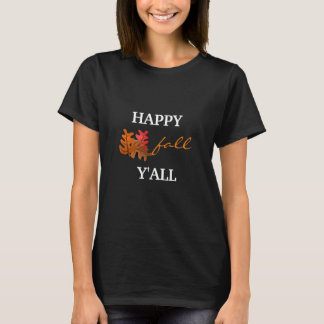 Happy Fall Women's Basic Black T-Shirt