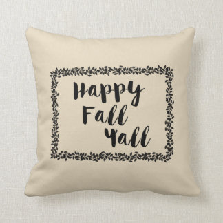 Happy Fall Y'all Autumn Decorative Throw Pillow