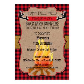 Happy Fall, Y'all! Bonfire Invitation