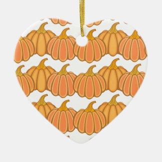 Happy fall y'all! ceramic heart ornament
