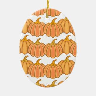 Happy fall y'all! ceramic oval ornament