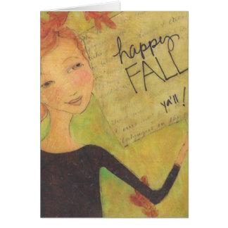 Happy Fall Y'all Notecard