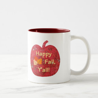Happy Fall Y'all Pumpkin Mug