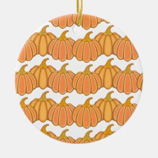 Happy fall y'all! round ceramic ornament
